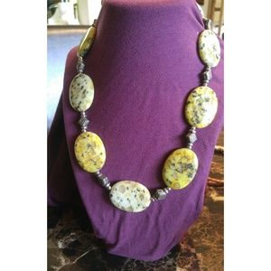 African stone necklace